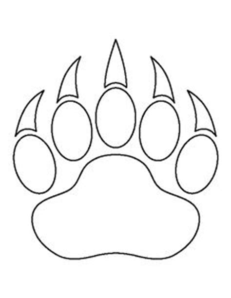 verb pattern bear free stencils collection dog stencils cat paw print