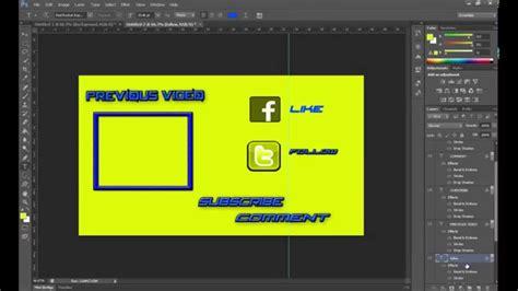 outro template maker how to make outro template photoshop outro