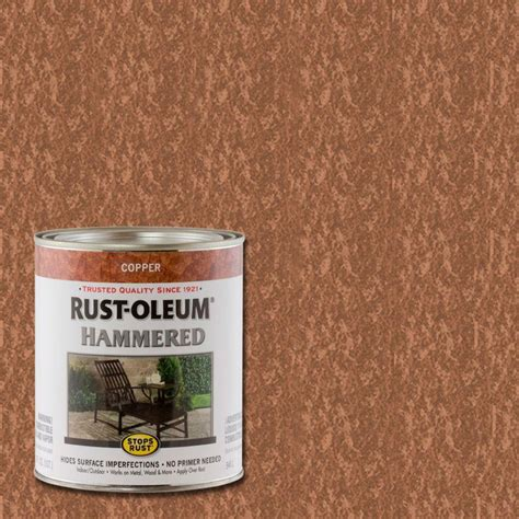 rust oleum stops rust 1 qt copper hammered rust