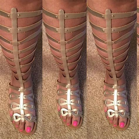 gladiator sandals for big calves new gladiator silver sandals us size 11wide width