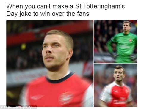 Arsenal Tottenham Meme - arsenal fans trolled the best north london derby memes