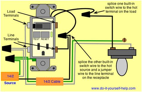 wiring a gfci outlet with a light switch diagram how to wire a gfci outlet to a light switch readingrat
