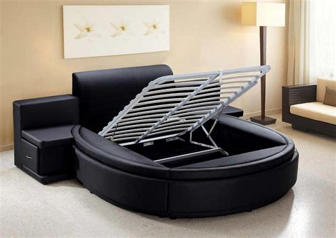 circle beds aiden black round bed modern bedroom furniture