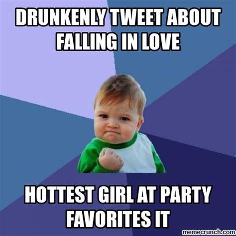 Falling In Love Memes - drunkenly tweet about falling in love