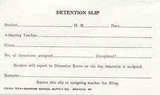 Detention Slips Template by Forms
