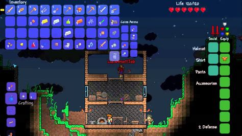 terraria bed terraria ep6 bed crafting youtube