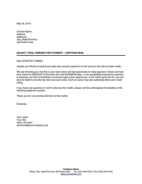 Collection Letter Template Notice