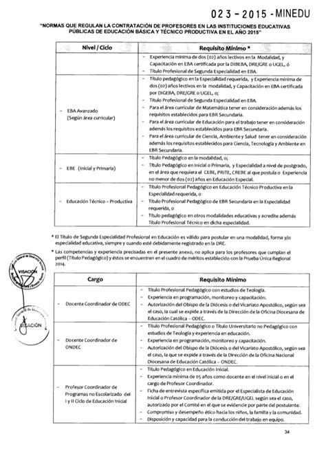 norma tecnica de contrato docente 2016 norma tecnica contrato de docentes 2015 autos post