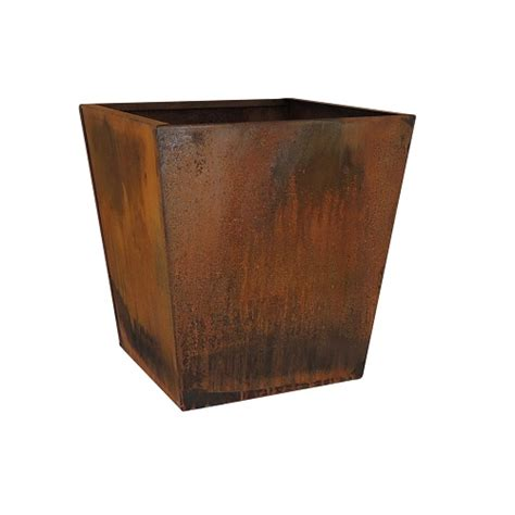 Square Planters by Corten Tapered Square Planter Llc