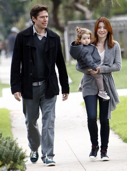 And Family Out For A Walk In Venice by Satyana Denisof In Alyson Hannigan And Family Out For A