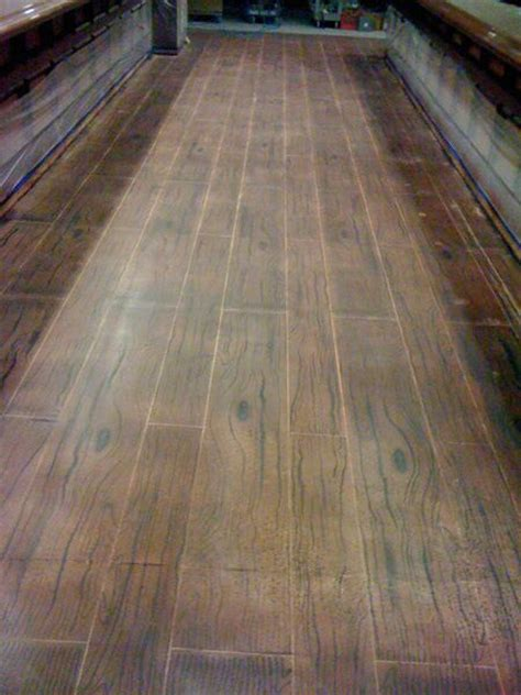 Hardwood Floors Concrete by A Wood Floor Made Of Concrete To Look Polished Look And As