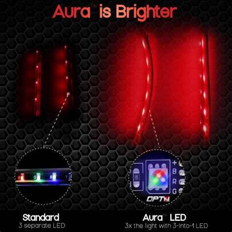 led accent light strips 10pc aura motorcycle led light kit all color accent glow strips harley davidson