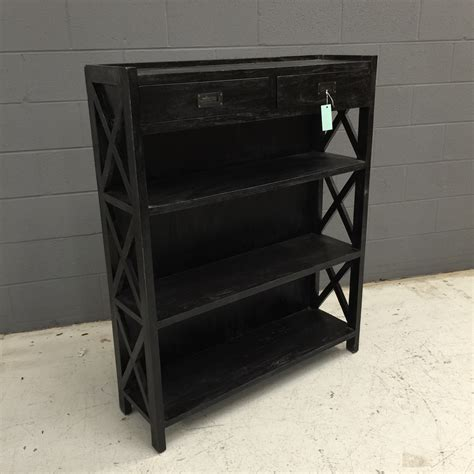 Low Black Bookcase by Low Black Bookshelf Two Tone Low Bookcase Black