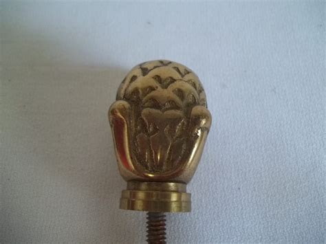 Bed Post Knobs by Brass Decorative Bed Post Knob Raised Design Green Spot