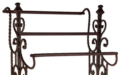 Wrought Iron Quilt Rack by Vintage Style Narrow Wrought Iron Quilt Rack Towel