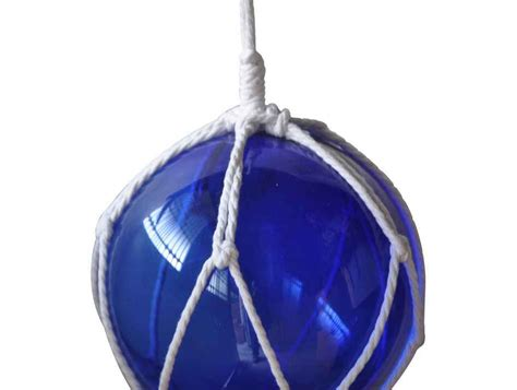 japanese glass buy blue japanese glass ball fishing float with white netting