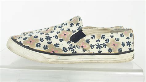 Burch Flat Floral burch multi color canvas floral flat loafer shoes size 10m ebay