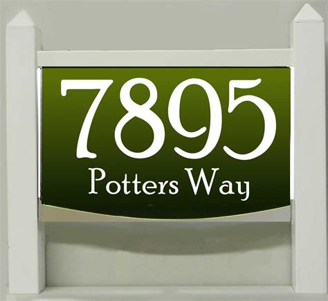 Address Plaques That Light Up - light up lawn mount address plaque