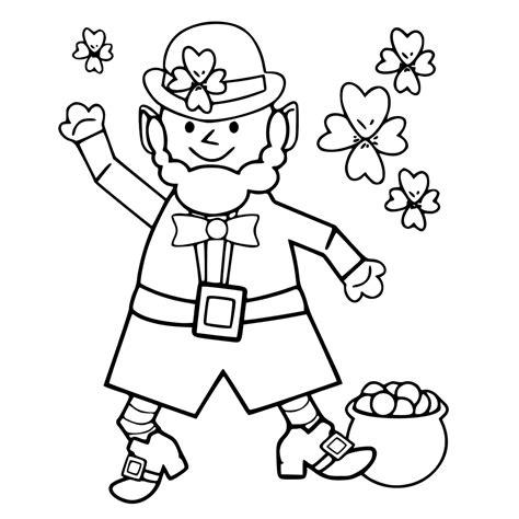 leprechaun coloring pages pdf leprechaun coloring pages getcoloringpages com