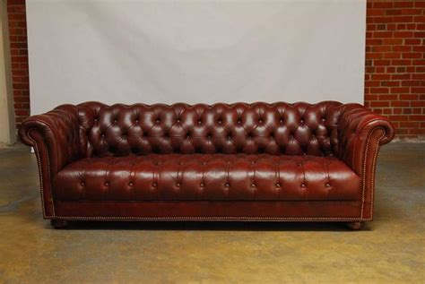 classic tufted sofa classic tufted leather chesterfield sofa at 1stdibs