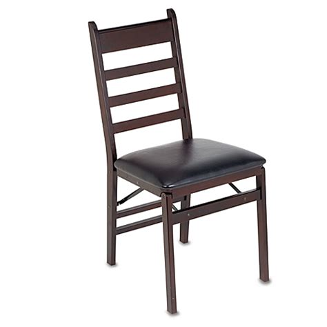 buy cosco 174 wood folding chair with padded seat from bed