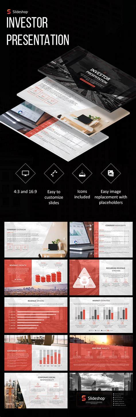 Investor Presentation By Slideshop Graphicriver Investor Presentation Template