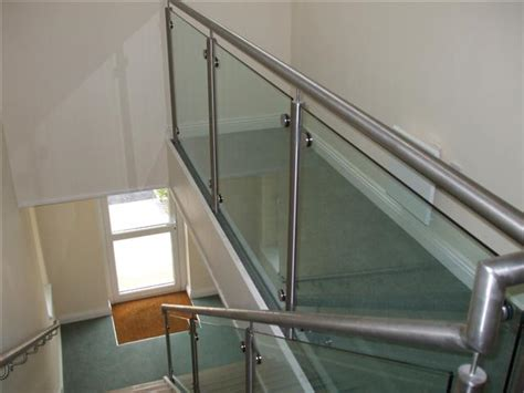 Steel Banister Rails by Handrail And Railings In Steel And Glass And Stainless