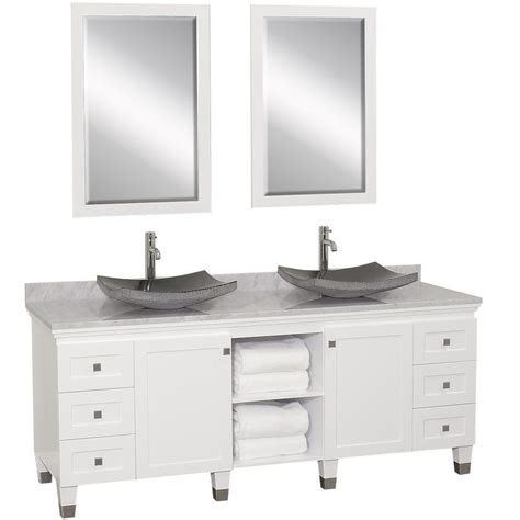white double sink bathroom vanity 72 quot premiere double sink vanity white