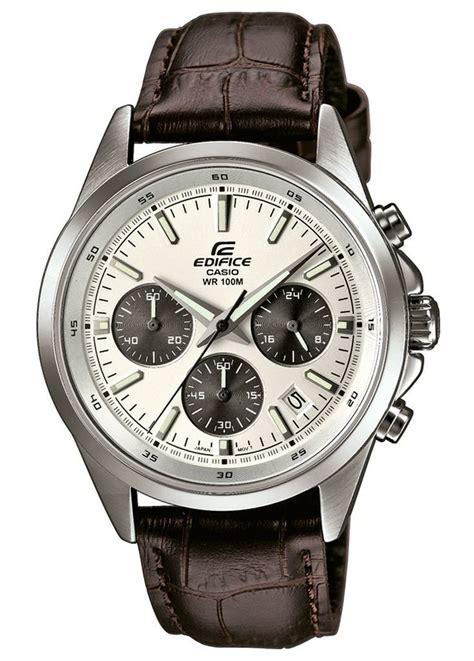 Casio Edifice Efr 553 Leather Brown Silver casio edifice silver chronograph leather efr 527l 7avuef see more from edifice at http