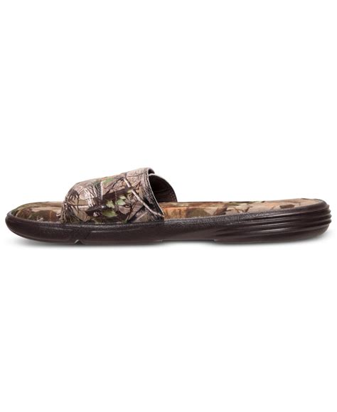 mens camo armour sandals lyst armour s ignite iii camo slide sandals