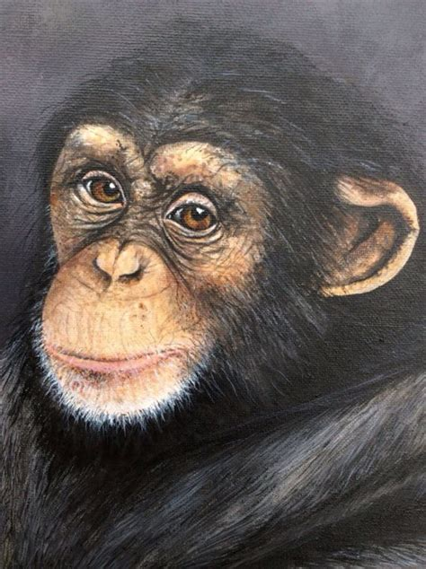 bentley orangutan chimpanzee painting limited edition print on canvas by