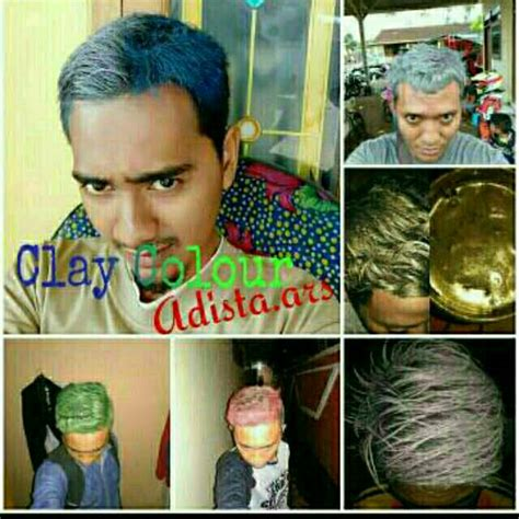 Sale Jepitan Anak Clay pomade warna 140 grm clay free sisir bisa pakai label bisa non shopee indonesia