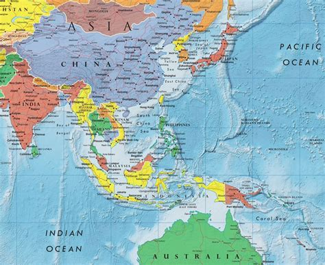 asia continent map asia continent asia map list of countries in asia einfon