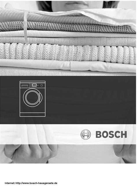 Waschmaschine Weichspüler Bleibt Im Fach by Bedienungsanleitung Bosch Maxx 5 Seite 1 64