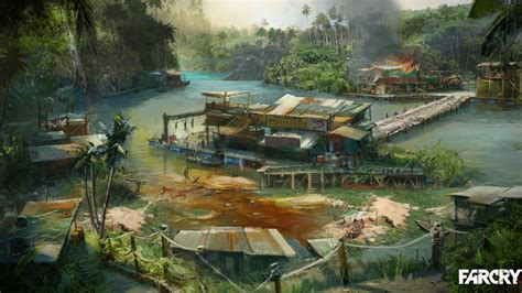 boat dock light elf outpost far cry 3 game hd wallpaper 06 preview 10wallpaper