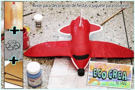 como hacer un avion de material reciclable avi 243 n con material reciclado botellas pet youtube