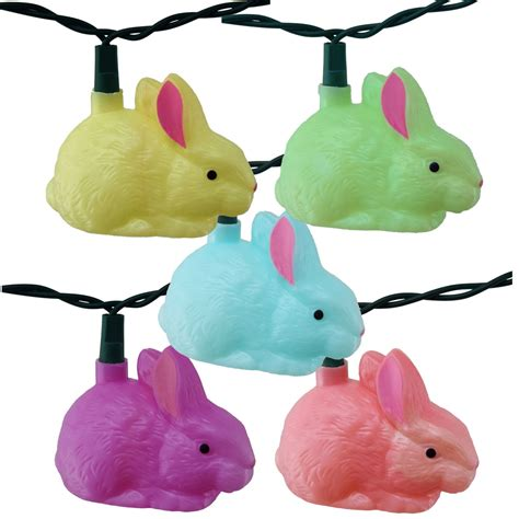 easter bunny string lights 10 bunnies