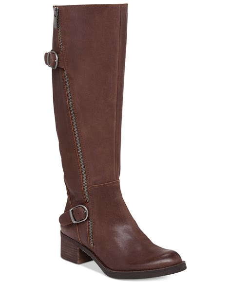lucky boots lucky brand s hoxy shaft boots in brown