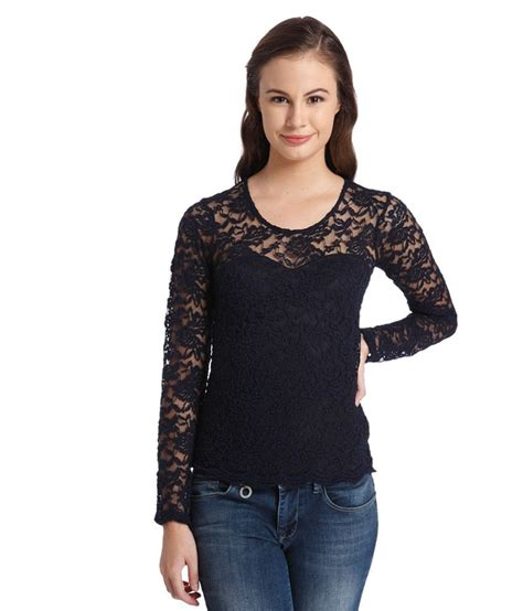 Blue Lace Top only navy blue lace top buy only navy blue lace top