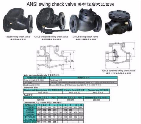 vertical swing check valve blot out proof stem flange vertical swing check valve