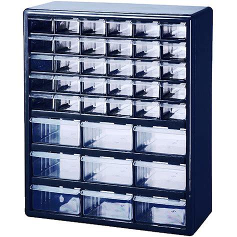 Parts Drawer by Stack On 39 Drawer Parts Organizer Blue Walmart