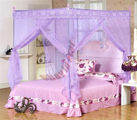 princess queen bed new mosquito net bed canopy pink ribbon princess bedding