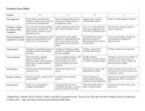 Essay Writing Rubric by Essay Rubric Grade 12