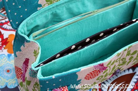 tote bag pattern with dividers amy butler blossom bag sew sweetness