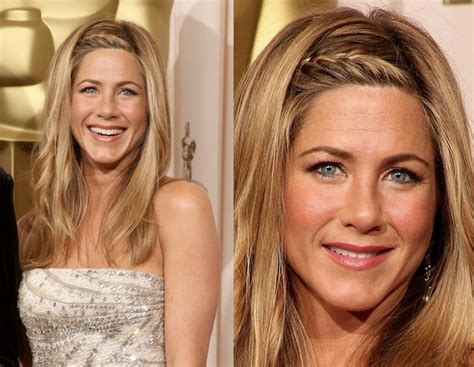 Jennifer Aniston Half Up Half Down Hairstyles | jennifer aniston braided prom hairstyles stylebistro