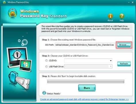 windows vista password reset key how to recover windows password with windows passowrd key