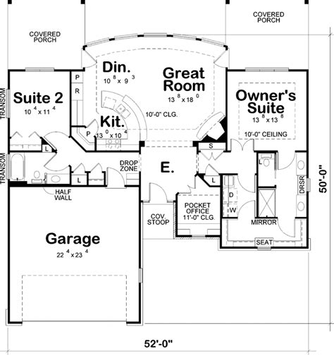 contemporary house plan  bedrooms  bath  sq ft plan