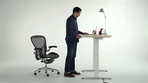 ervo sit to stand desk renew sit to stand desk youtube