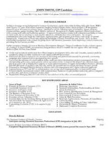 insurance broker resume template premium resume sles