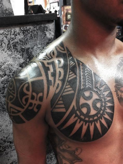 tribal arm piece tattoos polynesian chest polynesian tribal tattoos